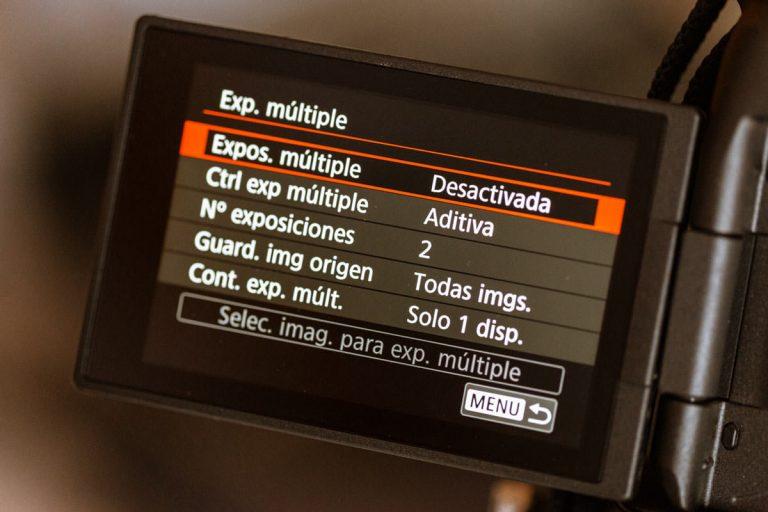 configurar canon exposición múltiple