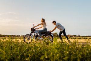Preboda en moto