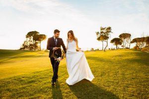 Retratos de boda en hotel camiral