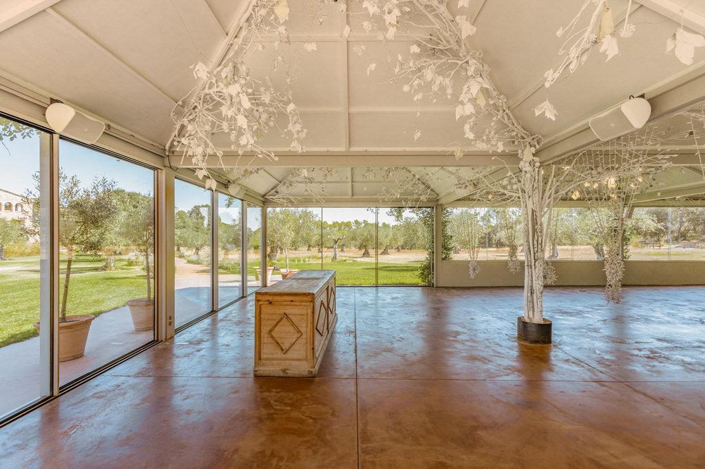 Pabellón exterior para bodas en Mas Terrats