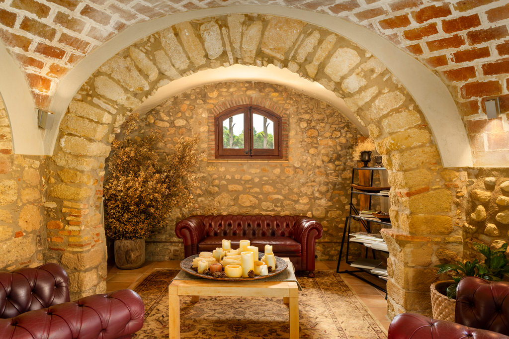 Sala de estar en Mas Terrats