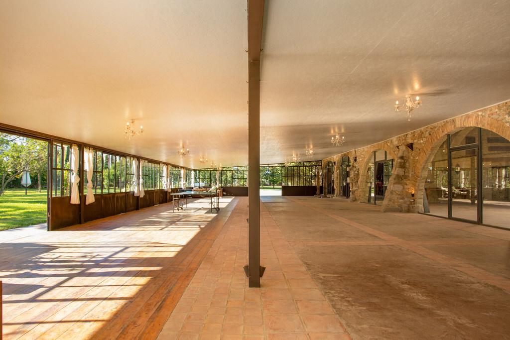 Vista general pabellón para bodas en Cortal Gran