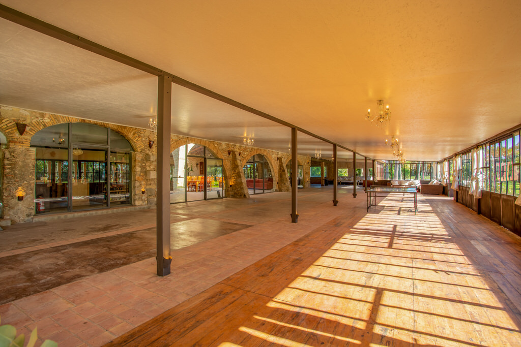 Zona pabellón para bodas en Cortal Gran