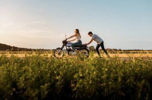 Prewedding with a motorbike